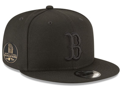 Boston Red Sox New Era 2018 MLB World Series Blackout Champ 9FIFTY Snapback Cap
