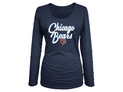 Chicago Bears 5th & Ocean NFL Women's Long Sleeve Tri-blend Foil T-shirt