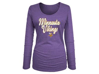 Minnesota Vikings 5th   Ocean NFL Women s Long Sleeve Tri-blend Foil T-shirt f32224a35b