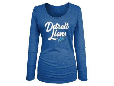 Detroit Lions 5th   Ocean NFL Women s Long Sleeve Tri-blend Foil T-shirt 6152952b6