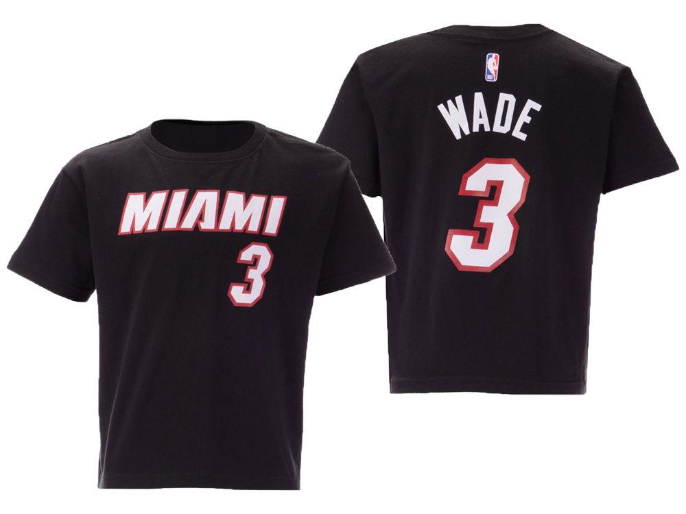 e7317b262e3 ... sale miami heat dwyane wade nike nba toddler replica name and number t  shirt lids 6e6f9