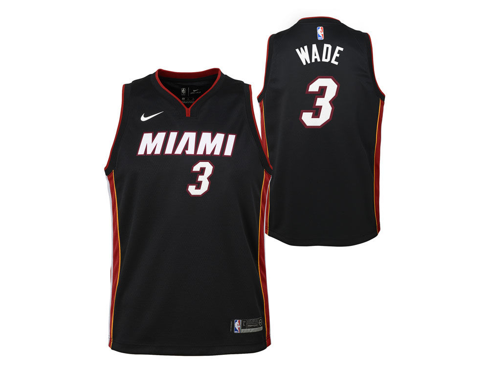 c830fc5d9 Miami Heat Dwyane Wade Nike NBA Kids Icon Replica Jersey