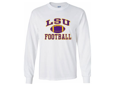 LSU Tigers NCAA Men's Football Arch Long Sleeve T-Shirt