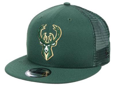 4c5e9b6492a Milwaukee Bucks New Era NBA Nothing But Net 9FIFTY Snapback Cap