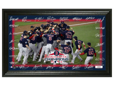 "Boston Red Sox Highland Mint 2018 MLB World Series Champ ""Celebration"" Signature Field"
