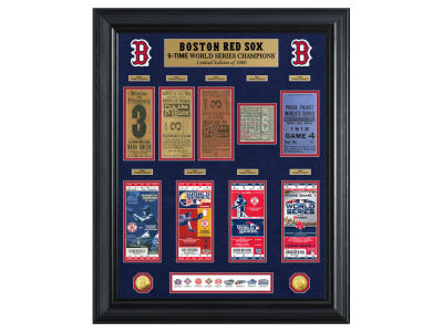 Boston Red Sox Highland Mint MLB Multi World Series Champ Gold Coin & Ticket Collection