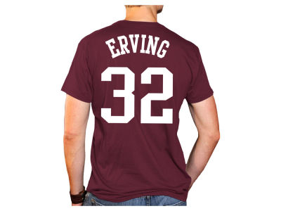 Massachusetts Minutemen Dr. J Julius Erving Retro Brand NCAA Men's Throwback Name and Number Basketball T-Shirt