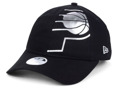 Indiana Pacers New Era NBA Women's Foil Script Hook 9TWENTY Cap