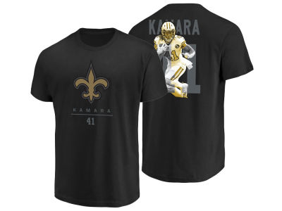 New Orleans Saints Alvin Kamara Majestic NFL Men's Notorious Player T-shirt