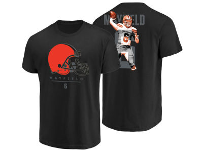Cleveland Browns Baker Mayfield Majestic NFL Men's Notorious Player T-shirt