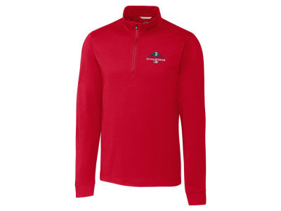 Boston Red Sox Cutter & Buck 2018 MLB Men's World Series Champ Advantage Zip Mock Pullover