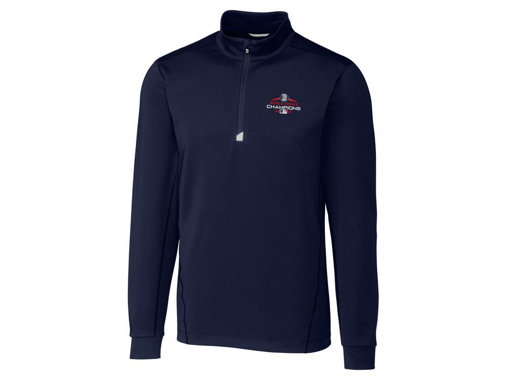 Boston Red Sox Cutter   Buck 2018 MLB Men s World Series Champ Traverse  Half Zip Pullover  7c78a29522b