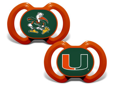 Miami Hurricanes Baby Fanatic 2-pack Pacifier Set