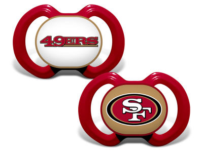 San Francisco 49ers Baby Fanatic 2-pack Pacifier Set