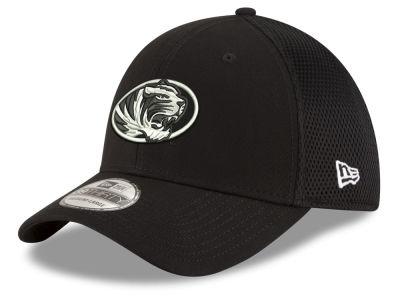 new style 310ed 17fb3 Missouri Tigers New Era NCAA Black White Neo 39THIRTY Cap