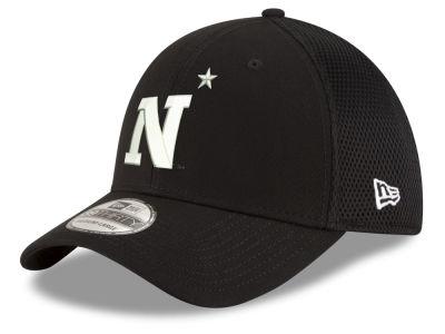 Navy Midshipmen New Era NCAA Black White Neo 39THIRTY Cap 4dac8ae35
