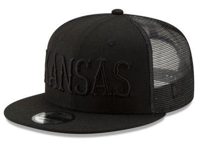 b758d3b92a9 Kansas Jayhawks New Era NCAA Black Meshback 9FIFTY Snapback Cap