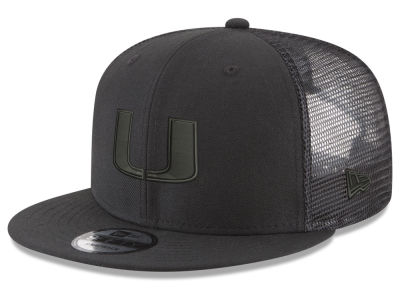 3093ebbaf21 Miami Hurricanes New Era NCAA Black Meshback 9FIFTY Snapback Cap