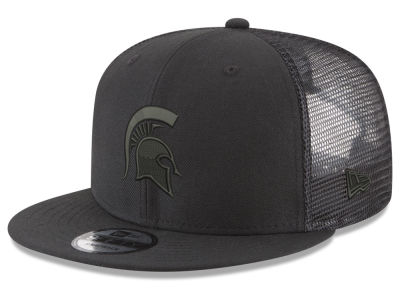 93cd70daf6f Michigan State Spartans New Era NCAA Black Meshback 9FIFTY Snapback Cap