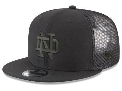 3f9745dcbef Notre Dame Fighting Irish New Era NCAA Black Meshback 9FIFTY Snapback Cap