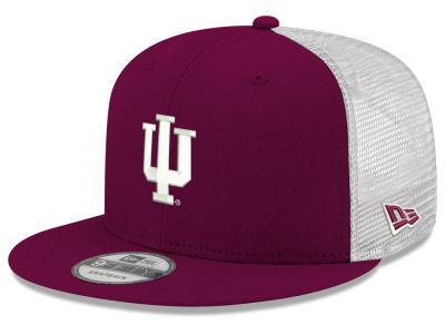 Indiana Hoosiers New Era NCAA Team Color Meshback 9FIFTY Snapback Cap cf1a8fb1336f
