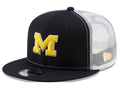 1feca3a8d00 Michigan Wolverines New Era NCAA Team Color Meshback 9FIFTY Snapback Cap