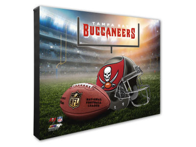 "Tampa Bay Buccaneers Photo File NFL Helmet / Stadium Composite 16"" x 20""  Canvas Photo"
