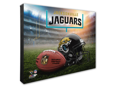 "Jacksonville Jaguars Photo File NFL Helmet / Stadium Composite 16"" x 20""  Canvas Photo"