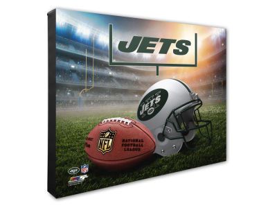 "New York Jets Photo File NFL Helmet / Stadium Composite 16"" x 20""  Canvas Photo"