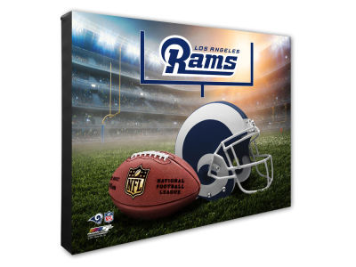 "Los Angeles Rams Photo File NFL Helmet / Stadium Composite 16"" x 20""  Canvas Photo"