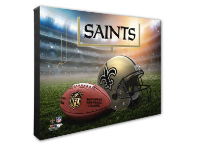 "New Orleans Saints Photo File NFL Helmet / Stadium Composite 16"" x 20""  Canvas Photo"