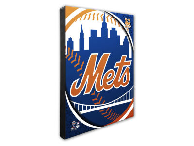 New York Mets Photo File Team Logo 20 x 24 Canvas Photo