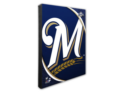 Milwaukee Brewers Photo File Team Logo 20 x 24 Canvas Photo