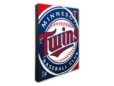 Minnesota Twins Photo File Team Logo 20 x 24 Canvas Photo