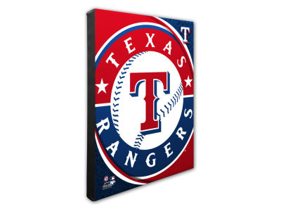 Texas Rangers Photo File Team Logo 20 x 24 Canvas Photo