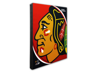 Chicago Blackhawks Photo File Team Logo 20 x 24 Canvas Photo
