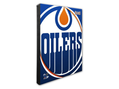Edmonton Oilers Photo File Team Logo 20 x 24 Canvas Photo