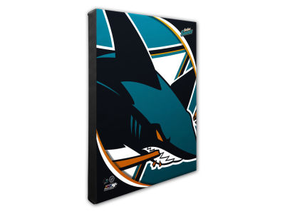 San Jose Sharks Photo File Team Logo 20 x 24 Canvas Photo