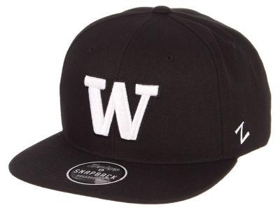 Washington Huskies Zephyr NCAA Black And White Snapback Cap 08bcb59b0f2