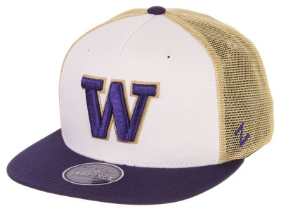 Washington Huskies Zephyr NCAA Team Color Meshback Snapback Cap d2e64264d