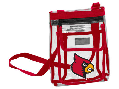 Louisville Cardinals Logo Brands Gameday Clear Crossbody Bag