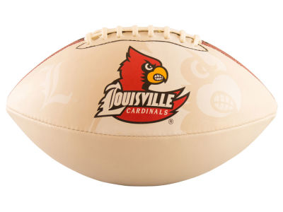 Louisville Cardinals Logo Brands Full-Size Autograph Football