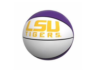 LSU Tigers Logo Brands Official-Size Autograph Basketball