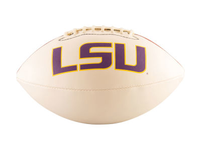 LSU Tigers Logo Brands Full-Size Autograph Football