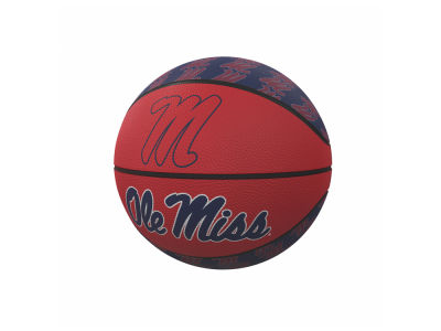 Ole Miss Rebels Logo Brands Mini-Size Rubber Basketball