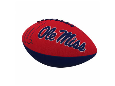 Ole Miss Rebels Logo Brands Junior-Size Rubber Football