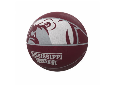 Mississippi State Bulldogs Logo Brands Official Size Rubber Basketball