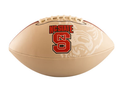 North Carolina State Wolfpack Logo Brands Full-Size Autograph Football