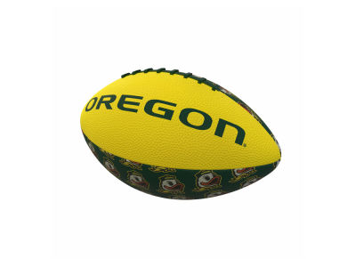 Oregon Ducks Logo Brands Mini-Size Rubber Football