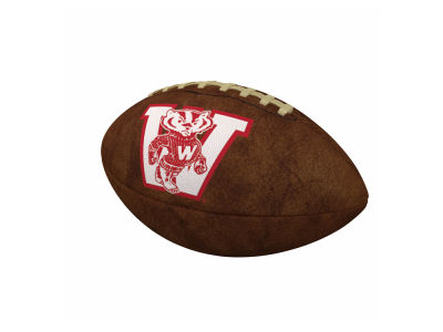 Wisconsin Badgers Logo Brands Official-Size Vintage Football